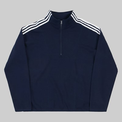 ADIDAS TERRY TRACK TOP COLLEGIATE NAVY WHITE