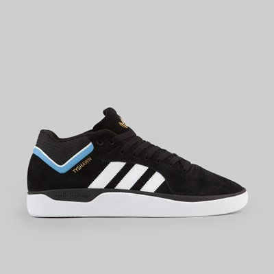 ADIDAS TYSHAWN CORE BLACK FOOTWEAR WHITE LIGHT BLUE
