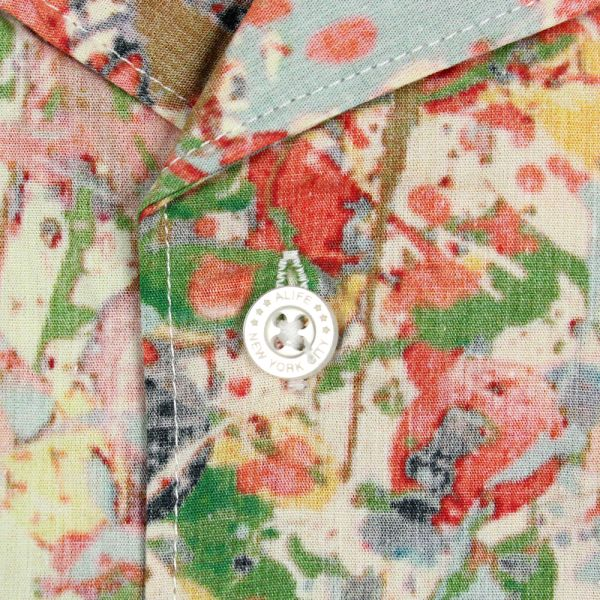 Alife Stoned Roses Short Sleeve Shirt Jackson Print
