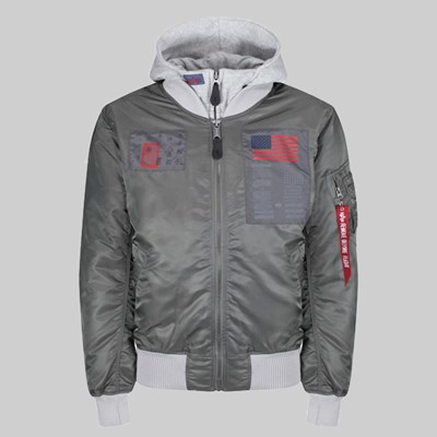 ALPHA INDUSTRIES MA-1 D-TEC BLOOD CHIT JACKET VINTAGE GREEN