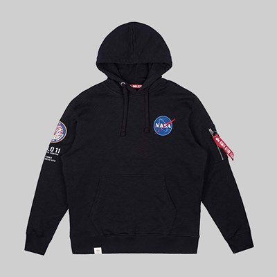 ALPHA INDUSTRIES APOLLO 11 HOODY BLACK