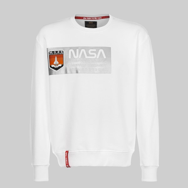 ALPHA INDUSTRIES MARS REFLECTIVE SWEAT WHITE