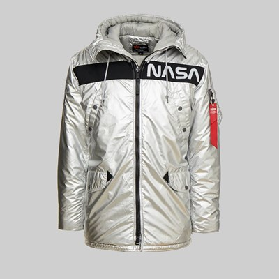 ALPHA INDUSTRIES N-3B NASA PUFFER JACKET SILVER