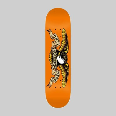 ANTI HERO SKATEBOARDS CLASSIC EAGLE ORANGE DECK 9.00