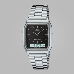 CASIO WATCH AQ-230A-1DMQYES SILVER BLACK