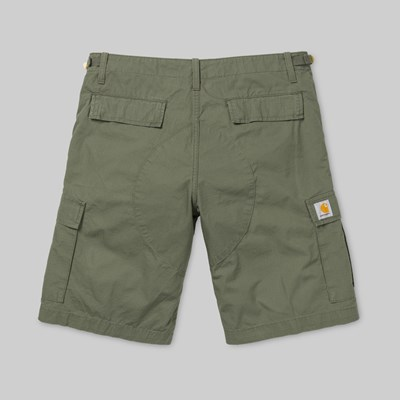 CARHARTT AVIATION SHORT DOLLAR GREEN RINSED
