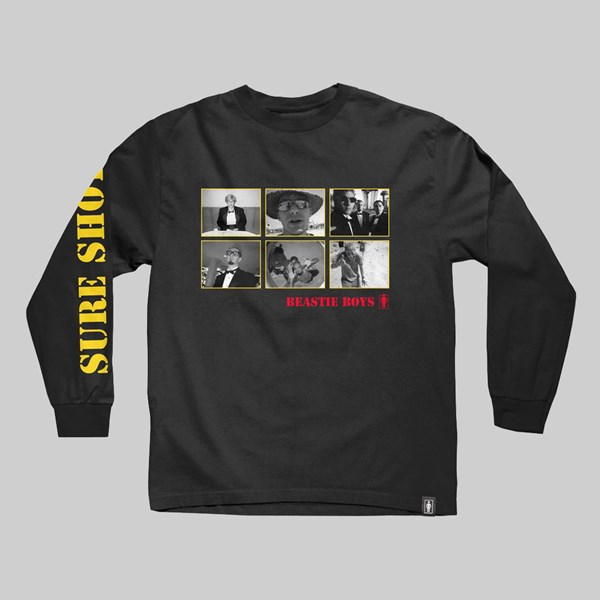 GIRL X SPIKE JONZE X BEASTIE BOYS 'SURE SHOT' LS TEE BLACK