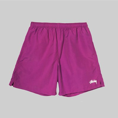 STUSSY STOCK LOGO WATER SHORT BERRY
