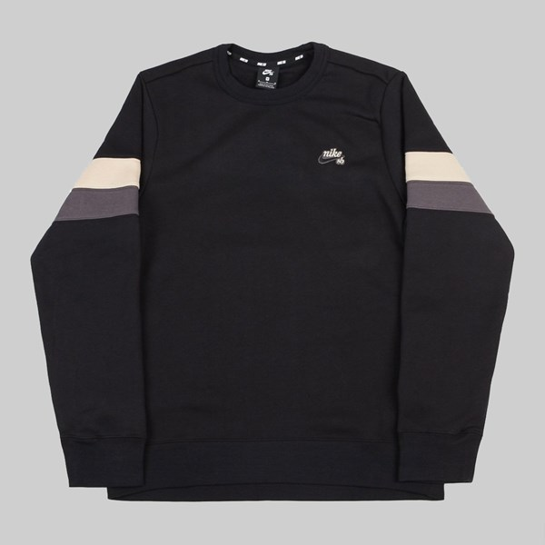 NIKE SB ICON CREW FLEECE BLACK DESERT ORE THUNDER GREY
