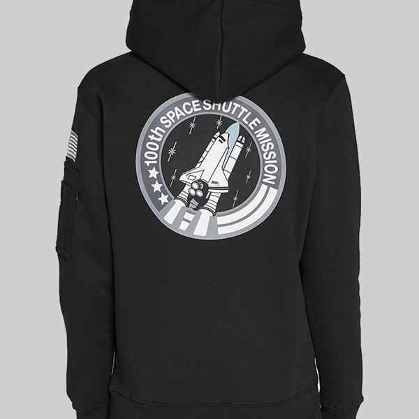 ALPHA INDUSTRIES SPACE SHUTTLE PO HOODY BLACK