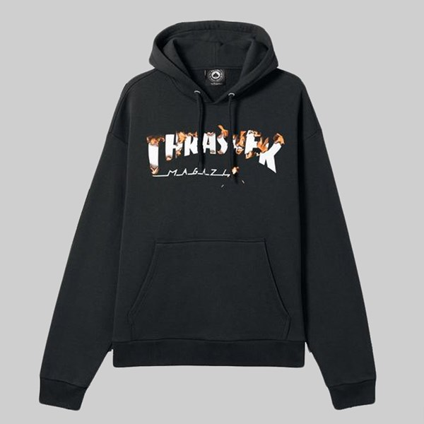 THRASHER INTRO BURNER PO HOODY BLACK