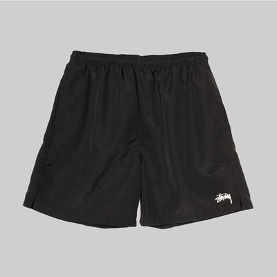 STUSSY STOCK LOGO WATER SHORT BLACK