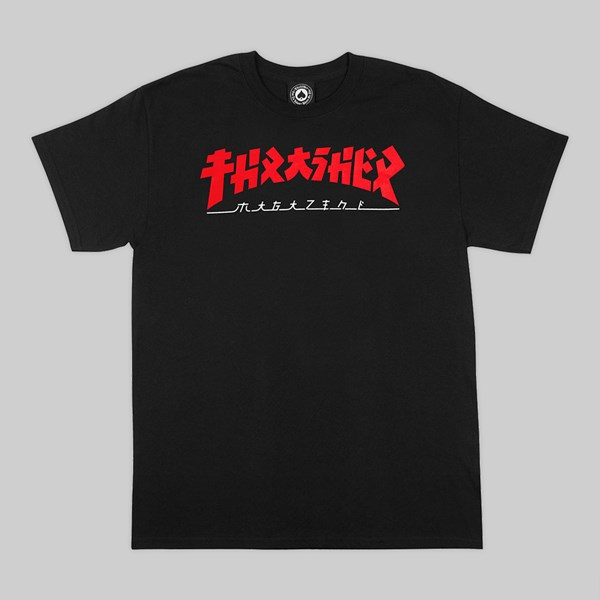 THRASHER 'GODZILLA' SHORT SLEEVE TEE BLACK