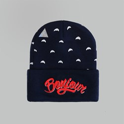 Cayler & Sons Bonjour Old School Beanie Navy-Red