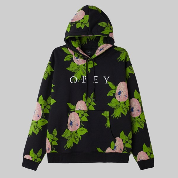OBEY BRAINIAC HOOD BLACK MULTI