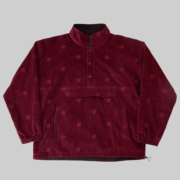 BRONZE 56K ALLOVER EMBROIDERED JACKET MAROON