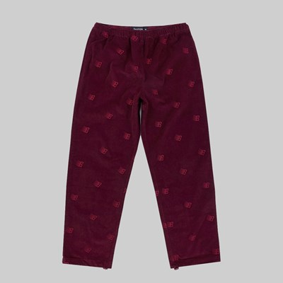 BRONZE 56K ALLOVER EMBROIDERED PANT MAROON