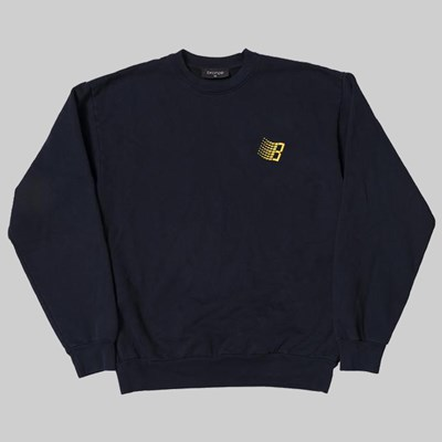 BRONZE 56K EMBROIDERED B LOGO CREW NAVY