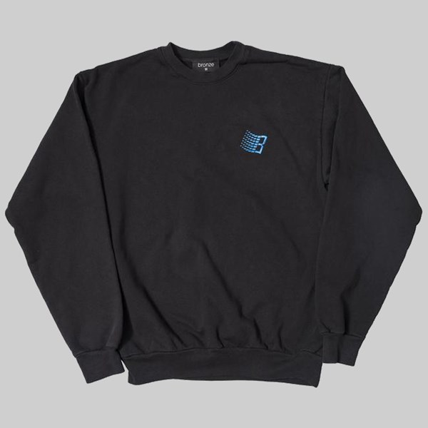BRONZE 56K EMBROIDERED B LOGO CREW OFF BLACK