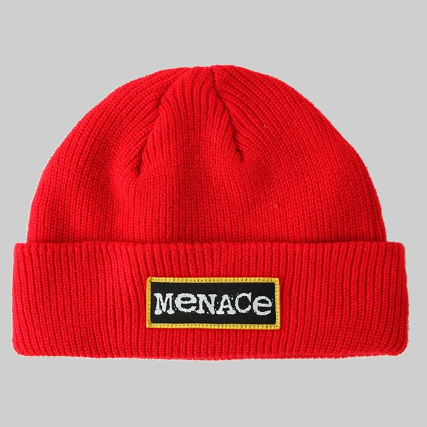 BUTTER GOODS MENACE BEANIE RED