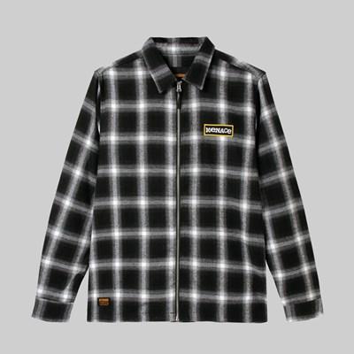 BUTTER GOODS MENACE ZIP THROUGH OVERSHIRT BLACK