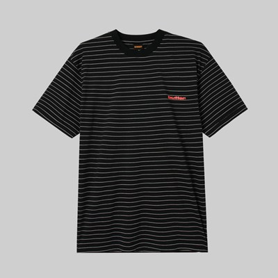 BUTTER GOODS TIDE STRIPE T-SHIRT BLACK
