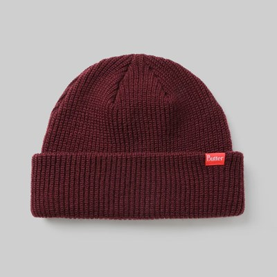 BUTTER GOODS WHARFIE BEANIE WINE
