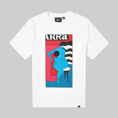 BY PARRA BAR STOOL SS T-SHIRT WHITE