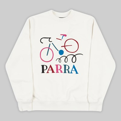 BY PARRA BROKEN BIKE CREW NECK SWEAT OFF WHITE