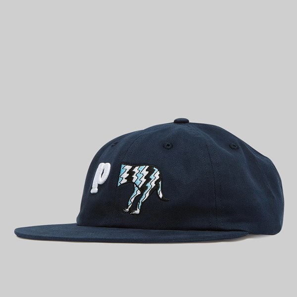 BY PARRA DOG TAIL 6 PANEL HAT DARK NAVY