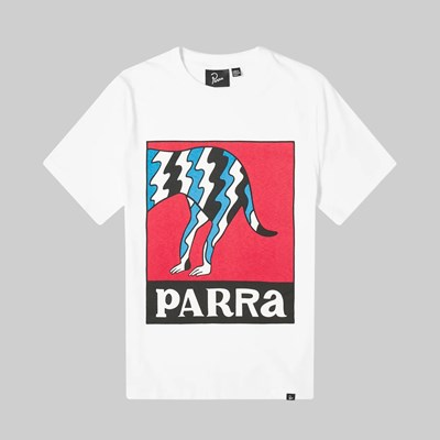 BY PARRA DOG TAIL STATIC SS T-SHIRT WHITE