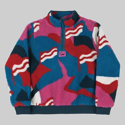 BY PARRA FLAG MOUNTAIN RACER SHERPA FLEECE PO MULTI