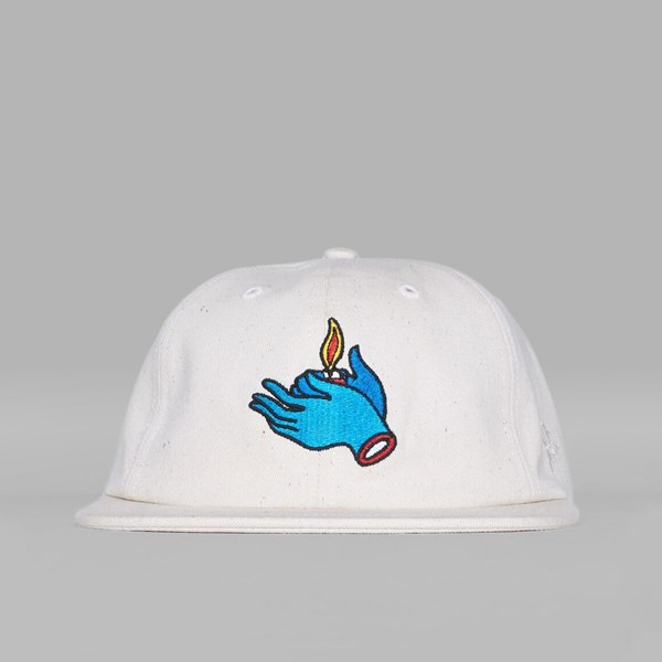BY PARRA FLAME HOLDER 6 PANEL CAP OFF WHITE