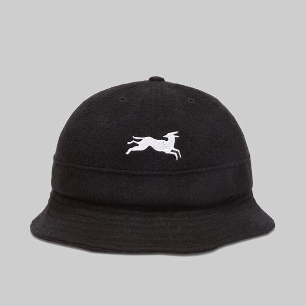 BY PARRA JUMPING FOX BELL BUCKET HAT BLACK