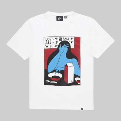 BY PARRA LOST ALL WILL FAST SS T-SHIRT WHITE