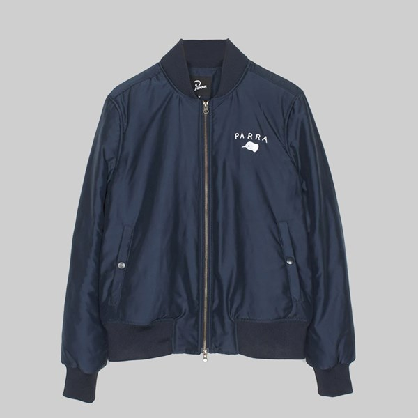BY PARRA SATIN LOAFER JACKET NAVY