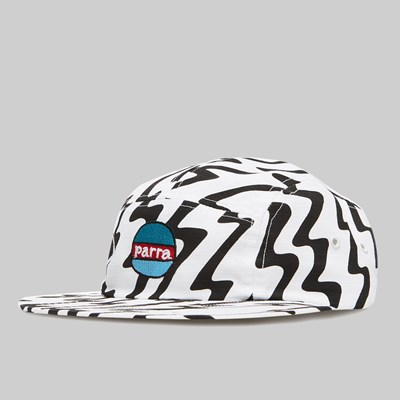 BY PARRA STATIC 5 PANEL HAT WHITE