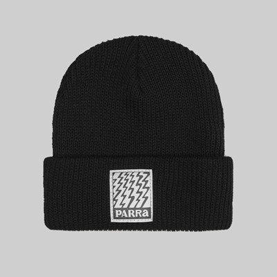 BY PARRA STATIC BEANIE BLACK WHITE