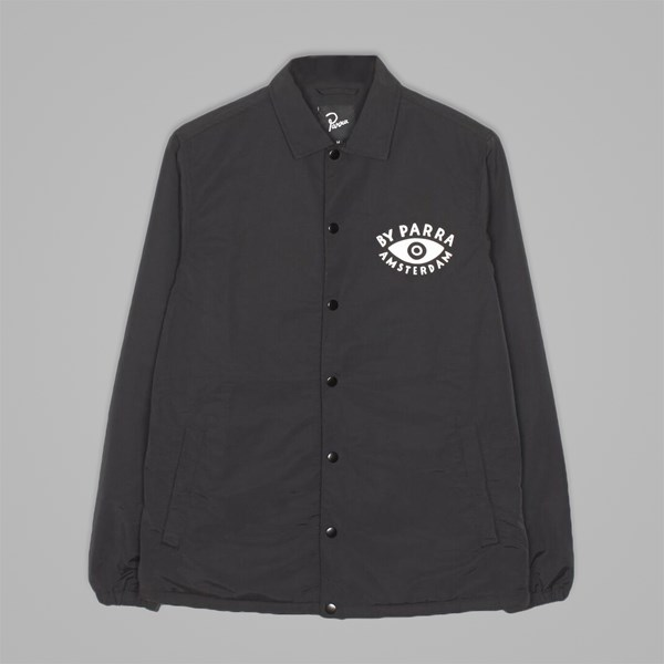 BY PARRA TWISTED COACH JACKET BLACK