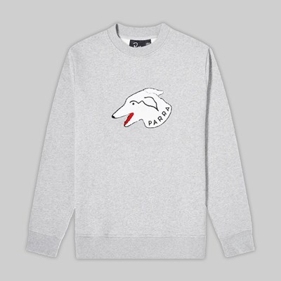 BY PARRA DOGFACE CREW SWEATSHIRT HEATHER GREY
