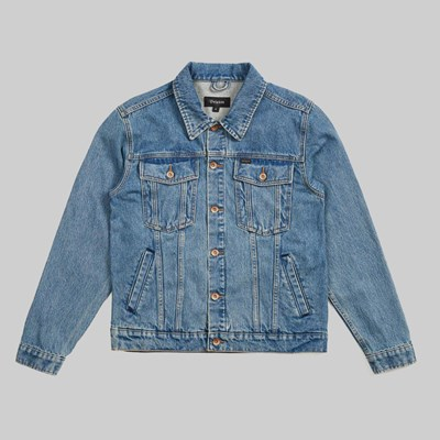 BRIXTON CABLE DENIM JACKET FADED INDIGO