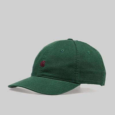 CARHARTT WIP MADISON LOGO CAP CHROME GREEN