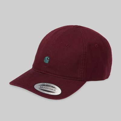 CARHARTT WIP MADISON LOGO CAP MERLOT DARK FIR
