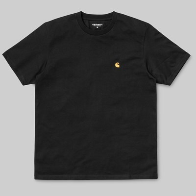 CARHARTT WIP CHASE SS T-SHIRT BLACK GOLD