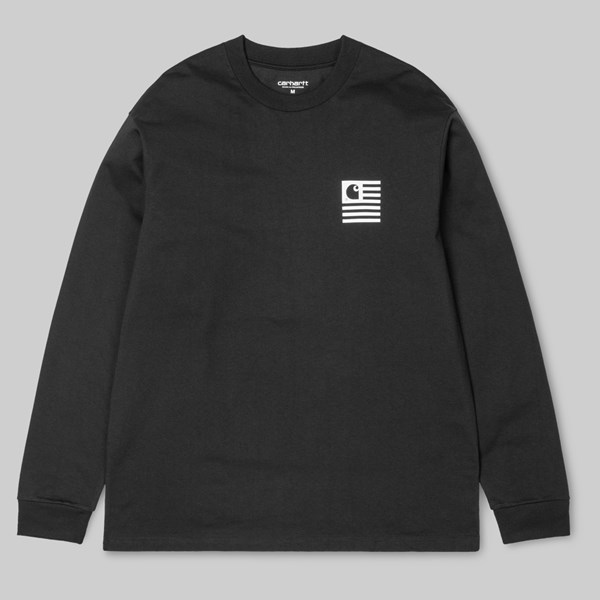 CARHARTT STATE PATCH LONG SLEEVE T-SHIRT BLACK