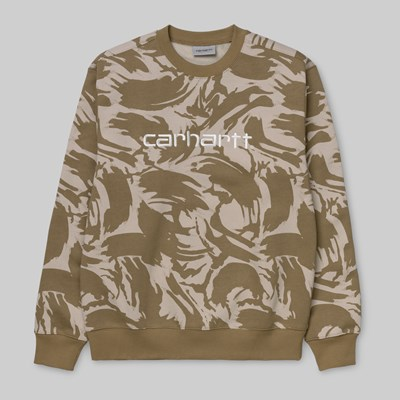 CARHARTT SWEAT CAMO BLUSH SANDSHELL