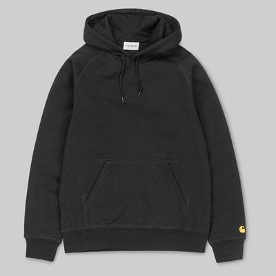 CARHARTT WIP HOODED CHASE SWEAT BLACK