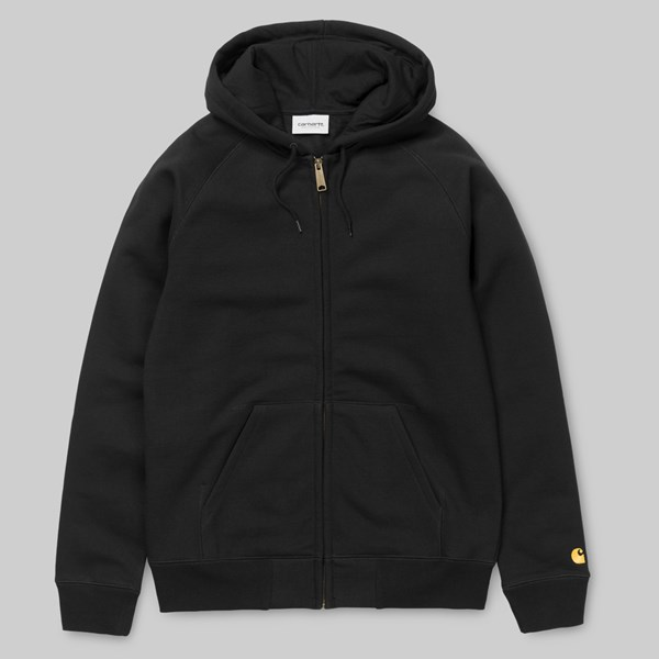 CARHARTT CHASE HOODED JACKET BLACK GOLD