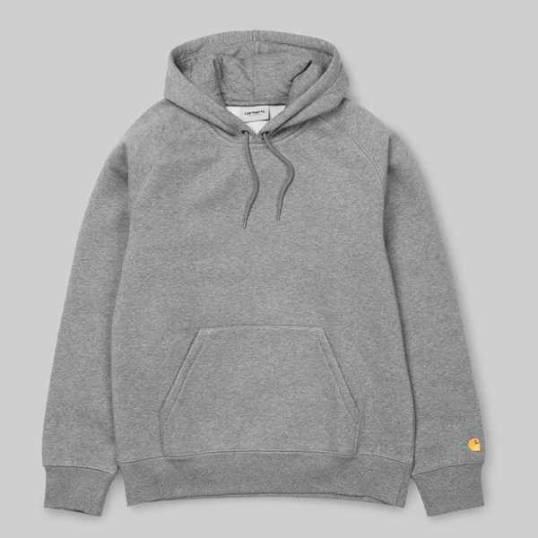 CARHARTT CHASE HOODED SWEAT GREY HEATHER