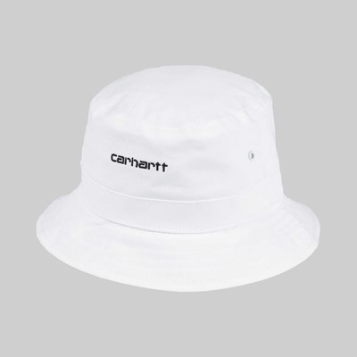 CARHARTT SCRIPT BUCKET HAT WHITE BLACK d7e001b1245e